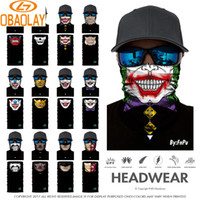 Wholesale cooling bandanas - Wholesale- Custom Above 700 Styles Select 3D Design Scarf Sport Cool Magic Skull Face Mask Turban Bandanas Scarves Seamless Headscarf