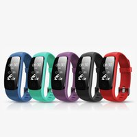Wholesale id107 smart bracelet - 2018 Orginal Smart ID107Plus HR Heart Rate Bracelet Monitor ID107 Plus Wristband Health Fitness Tracking For Android iOS Smart Watch