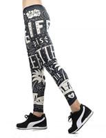 Wholesale Khaki Leggings - 2018 new women's Leggings new women's Black stripes Leggings for ladys and girls