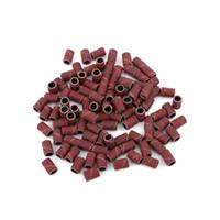 маникюрные шлифовальные ленты оптовых-100Pcs 3Styles Professional Nail Art Drill Bits Tips Sanding Bands Manicure Pedicure Nail Drill Bit Machine Accessory