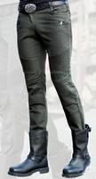 ingrosso uomini di jeans verde scuri-All'ingrosso e al dettaglio consegna gratuita uglybros MOTORPOOL jeans verde scuro casual pantaloni da moto all'aperto uomo in sella a jeans