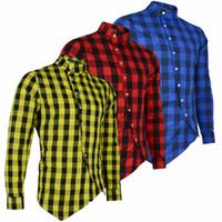 1c9f954275 Long Sleeve Plaid Flannel Men Shirt Slim Fit Mens Casual Shirts Free  Shipping Mens Designer Long Sleeve Shirts