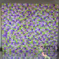 seide lila pfingstrosen großhandel-Hochzeits-Hintergrundblumen-Wanddekoration Künstliche silk purpurrote Hortensie mit Pfingstrosehochzeits-Stadiumshintergrund-Inneneinrichtung
