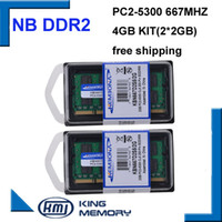 Wholesale dimm ram - RAMs KEMBONA best sell dual channel 4GB 2x2GB PC2-5300 DDR2 667Mhz SO-DIMM 200 PIN Laptop ddr2 Notebook RAM Memory Free Shipping