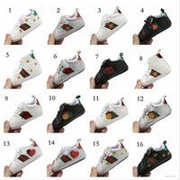 Wholesale 17 Styles Baby Soft Bottom Sneakers Shoes Fashion Boys Girls First Walkers Shoes Infant Indoor Non slip Toddler Casual Kids bee Shoes