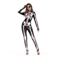 горячие розовые черные пирожные оптовых-2019Human структура тела 3D печати партии вечерний костюм комбинезоны узкие брюки Мужчины Женщины Хэллоуин косплей костюмы устанавливает фестиваль одежда Костюмы