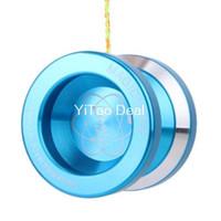 yoyo azul venda por atacado-Yoyo Ball Moda Azul Magia YoYo N8 Ouse Fazer Liga de Alumínio Profissional Yo-Yo Brinquedo