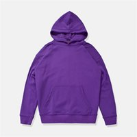 Wholesale justin bieber clothing style for sale - Solid Color Front Pocket Loose Style High Street Hoodie Men Terry Material Men s Hoodie Justin Bieber Kaye West Clothing colors