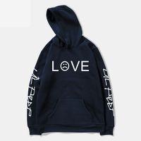 Wholesale boys hoodies online - Pkorli Lil Peep Love Sweatshirt Men Women Casual Pullover Hip Hop Lil Peep Rapper Hoodies Sad Face Boys Hoody