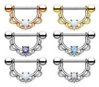 anéis de mamilo de strass venda por atacado-1 pcs Rhinestone Mamilo Piercing Moda Body Shield Piercing Anéis Jóia Do Corpo para As Mulheres Meninas