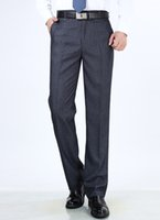 costume homme gris foncé achat en gros de-918 couleur gris foncé été mince hommes costume pantalons pantalons