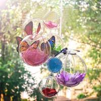 ingrosso artigianato decorativo di natale-20pcs 10cm Albero di Natale Decor Ornament Ball Type Box Trasparente plastica trasparente Craft