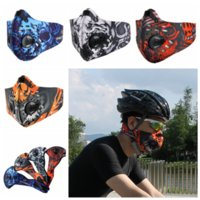 Wholesale Running Face Mask - Sports Masks Men Women Activated Carbon Dust Proof Cycling Half Face Mask Bicycle Bike Dustproof Running Scarves GGA340 50PCS