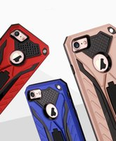 Wholesale iphone cases stand - For Iphone 8 Case iPhone 8 plus Cover Samsung S8 plus S9 Phantom Knight Phone Case with Stand Shatter-Resistant Outdoor Phone Cover
