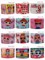 lolita çizgi filmleri toptan satış-3 '', 75mm - LOL, LOLi Baskılı Grogren kurdele - Kız kurdele - Çizgi film karakteri