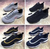 Wholesale Fashion For Plus Size Men - 2018 Hot Sale Airs Cushion Plus Tn 97 Men Running shoes for Top quality Fashion Drop Plastic shoes Vapormax Size Eur 40-45