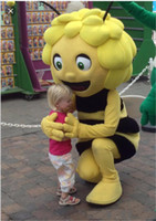 Wholesale fancy dress bee - 2018 Discount factory sale Maya The bees Mascot Costume for adult fancy dress outfit free shipping