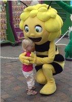 robes de fantaisie adultes achat en gros de-2018 Remise usine vente Maya Les abeilles Costume de mascotte pour adulte tenue fantaisie tenue livraison gratuite