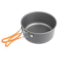Wholesale camping pot pan cookware for sale - Group buy Stocked Outdoor Camping Cooking Pots And Pans Set Cookware Mess Kit Piece Backpacking Gear Hiking Cook Set Bowls Spoon With Oxford Bag