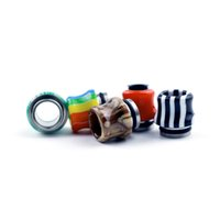Colorful Rainbow Mushrooms Resin 810 Thread Resin Drip Tip Wide Bore Mouthpiece For TFV8 Big Baby GOON 528 RDA TFV12 Prince Tank Atomizer