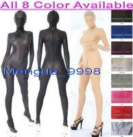 xxl vestido de corpo venda por atacado-Unisex 8 Cor Spandex Silk Suit Catsuit Trajes Sexy Spandex Bodysuit De Seda Unisex Terno Do Corpo Completo Vestido Extravagante Do Partido Trajes Cosplay M304