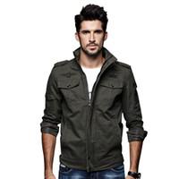 ingrosso cappotto di colore khaki-Cappotto per abbigliamento casual da uomo casual color verde khaki 3 nuovi uomini giacca invernale da uomo casual