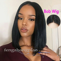 Wholesale short human hair wigs african american for sale - FZP Cheap Simulation Human Hair Short Pixie cut BOB Wigs Peruvian Full Hair Glueless None Lace Wig African American Long Black Wig