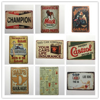 Wholesale routed signs - Cocktail Champion Castrol Route 66 Garage Retro rustic tin metal sign Wall Decor Vintage Tin Poster Cafe Shop Bar home decor