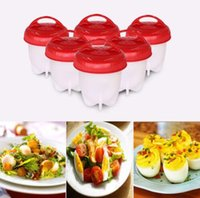 Wholesale eggs cooker - Egglettes Egg Cooker Hard Boiled Eggs without the Shell Silicone Egg Cups Tool