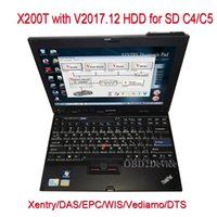 Wholesale xentry tools online - Professional Diagnostic Laptop X200t with V2017 Xentry Software Installed for MB Star C4 MB Star C5 Wifi Diagnostic Tool