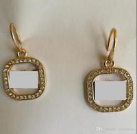 Wholesale wedding diamond earings - 2018 selling M*K Brand drop earrings Crystal hoop earings brand Jewelry wedding jewellery for women girls Silver Gold Rose