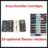 Wholesale brass knuckle gold for sale - Brass Knuckles Cartridges Pyrex Glass ml ml Gold BUD Touch Thick Oil Atomizer Vape Pen Tank free DHL