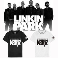 Wholesale Linkin Park T Shirts - Free shipping new arrival Letter print linkin park t-shirts rock music brand band team fashion t shirt Men Tops Tees 100% cotton 8 color