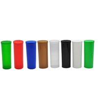 wholesale bottled pop UK - 60 Dram Squeeze Pop Top Bottles Vial Herb Box Container Airtight Herb Spice Storage case Color Random