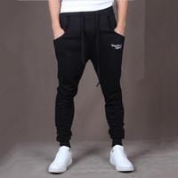Wholesale men s brands harem pants - Wholesale-Hot! New Brand Mens Joggers Casual Harem Sweatpants Sport Pants Men Gym Bottoms Track Training Jogging Trousers+