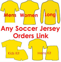 Wholesale Kids Red Coats - 17 18 Soccer Jersey Any Team Football Shirts kids woman tracksuits sweater men Soccer Uniforms Customers Order Link jacket and pants coat
