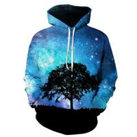 neuheit plus größen-sweatshirts großhandel-Galaxy Baum 3D Printed Hoodies Unisex Plus Size Sweatshirts Starry Trainingsanzug Heißer Verkauf Pullover 6XL Neuheit Streetwear HOT Hoody