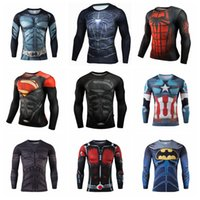 Wholesale shirt ironing for sale - Group buy Superman Compression Shirt Styles Quick Dry Iron Man Fitness Clothing Bodybuilding Men Crossfit Home Clothing OOA5624
