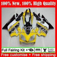sarı renkli f4 toptan satış-HONDA CBR600F4 CBR600 F4 99 00 Için vücut FS 44MT16 CBR 600F4 99 CBR600 FS CBR600FS CBR 600 F4 1999 2000 Fairing Kaporta kiti Sarı beyaz