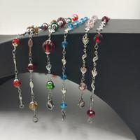 glasperle halskette china großhandel-USENSET Kristall Feine Perlen Lange Halskette Schneiden Facetten Glasperlen Gestreckt Halskette Armband Einfacher Schmuck