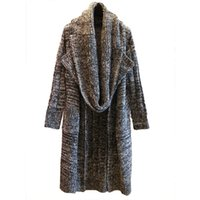 Wholesale korea scarf for sale - Group buy 2018 autumn and winter women sweater new Korea purchasing loose large size knit long paragraph lapel cardigan with a scarf