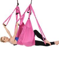ingrosso swing inversione yoga-Yoga Hammock Altalena Paracadute Tessuto Swing Inversion Terapia Anti-gravità Decompressione Volare Yoga Hammock Gym