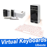 Wholesale brand new keyboard for sale - Group buy Brand new Bluetooth keyboards wireless laser projection keyboard Virtual projection keyboards with speaker mouse voice for iphone