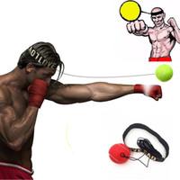 ücretsiz gönderim boks ekipmanları toptan satış-En kaliteli Dövüş Topu Boks Ekipmanları Kafa Bandı için Refleks Hız Eğitim Boks Punch Muay Thai Egzersiz ücretsiz kargo yeni