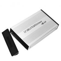 boîtes de rangement hd achat en gros de-3.5 pouces USB 2.0 SATA Disque dur externe Disque dur Boîtier de protection pour boîtier de stockage externe avec adaptateur XXM