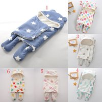 Wholesale Toddler Beds Wholesale - Baby Blankets Newborn Swaddling Toddler Sleeping Bags Stroller Cart Swaddle Fleece Winter Wraps Bedding 12 colors 65*75cm C3485