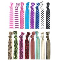 Wholesale hair tie hairband elastic - 16 Colors Knotted Women Hair Ties Elastic Leopard Hair Bands Women Girls' Hair Accessories Stripes Elastic Hairband CCA9083 200pcs