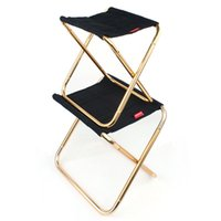 Wholesale bbq sizes - 2 Size Outdoor Portable Folding Camping Chair 7075 Aluminum Alloy Chair Family BBQ Stool Fishing High Quality NNA270
