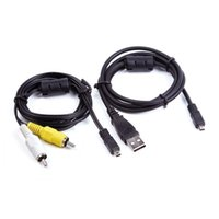 dsc-kabel groihandel-USB-Daten-SYNC + AV-A / V-TV-Kabel für Sony Cybershot DSC-H200 / DSC-H300 b Kamera
