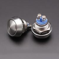 кнопочные замки оптовых-12 мм водонепроницаемый металлический старт Рог кнопка переключения электрический мгновенный кнопочный сброс Jog переключатель без замка 2A DC 36 в